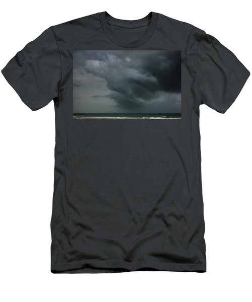 Angry Storm At Lido Beach Men's T-Shirt (Athletic Fit)