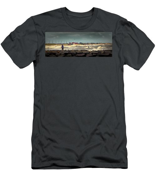 Angry Surf At Indian River Inlet Men's T-Shirt (Athletic Fit)