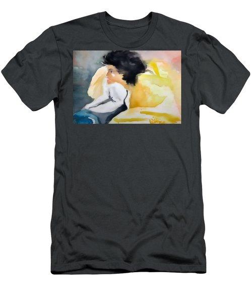 Ann Watching Tv - Digitalart Men's T-Shirt (Athletic Fit)