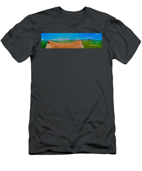 Anna Maria Island Seen From The Historic City Pier Panorama Men's T-Shirt (Athletic Fit)