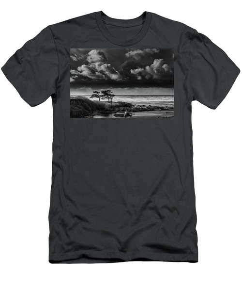 Men's T-Shirt (Athletic Fit) featuring the photograph Another Day At Kalaloch Beach by Dan Mihai