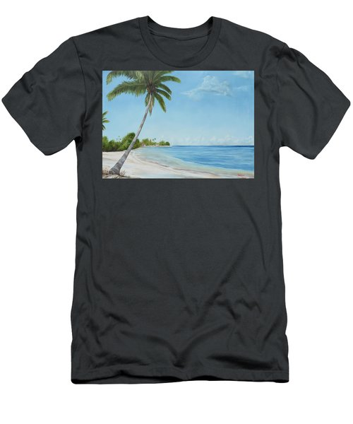 Another Day In Paradise Men's T-Shirt (Slim Fit) by Lloyd Dobson