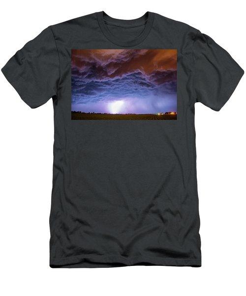 Another Impressive Nebraska Night Thunderstorm 007 Men's T-Shirt (Athletic Fit)
