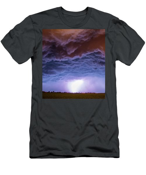 Another Impressive Nebraska Night Thunderstorm 007 Men's T-Shirt (Athletic Fit)