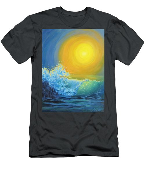 Men's T-Shirt (Slim Fit) featuring the painting Another Sun by Karen Ilari