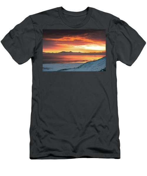 Antelope Island Sunset Men's T-Shirt (Athletic Fit)