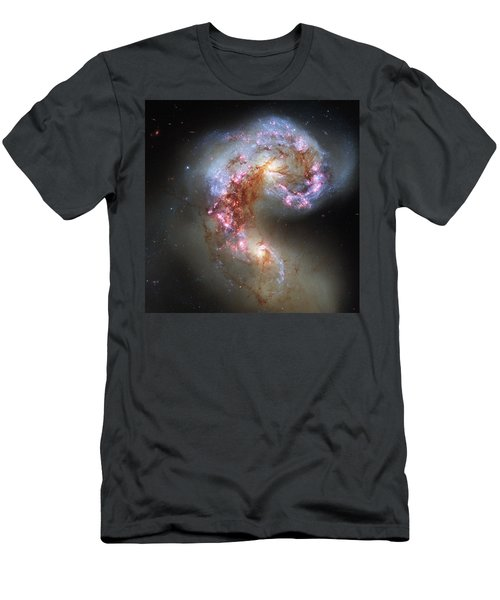 Men's T-Shirt (Slim Fit) featuring the photograph Antennae Galaxies Reloaded by Nasa