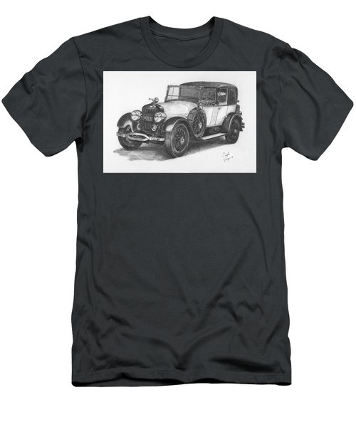 Antique Car -pencil Study Men's T-Shirt (Athletic Fit)