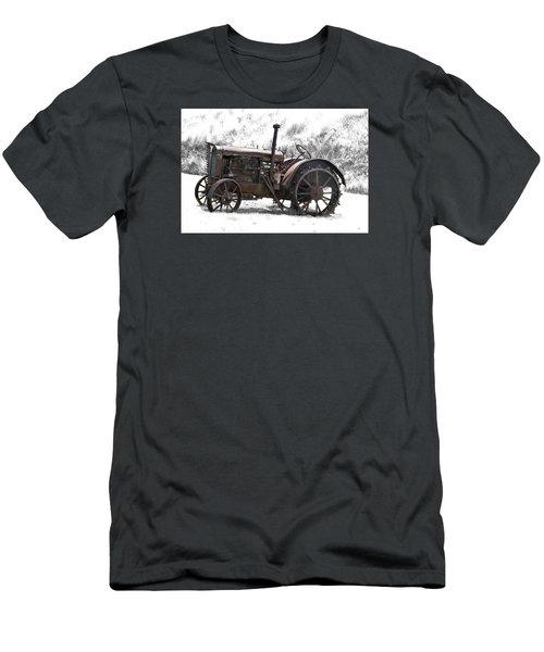 Antique Iron Horse Men's T-Shirt (Slim Fit) by Kathy M Krause