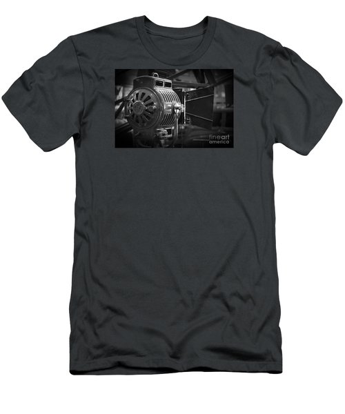 Antique Movie Lamp Men's T-Shirt (Slim Fit) by Roger Lighterness