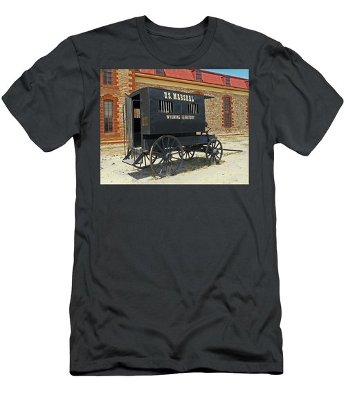 Antique U.s Marshalls Wagon Men's T-Shirt (Slim Fit) by Sally Weigand