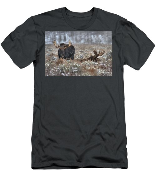 Men's T-Shirt (Slim Fit) featuring the photograph Antlers In The Brush by Adam Jewell