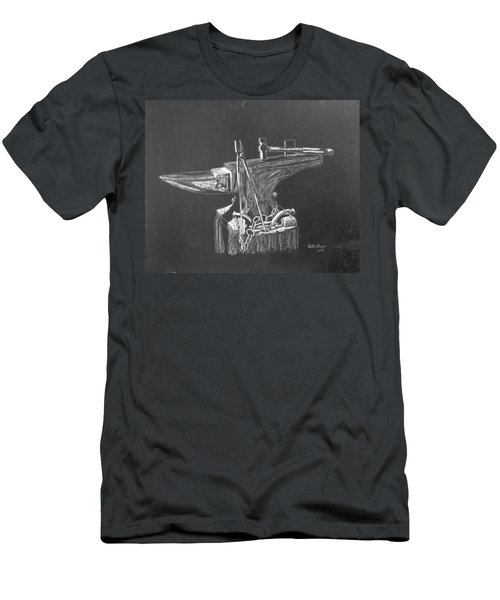 Men's T-Shirt (Athletic Fit) featuring the painting Anvil by Richard Le Page
