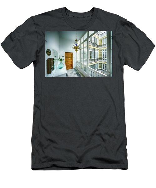 Men's T-Shirt (Athletic Fit) featuring the photograph Apartment In The Heart Of Cadiz 17th Century Cadiz by Pablo Avanzini