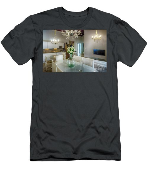 Men's T-Shirt (Athletic Fit) featuring the photograph Apartment In The Heart Of Cadiz Spain 17th Century by Pablo Avanzini