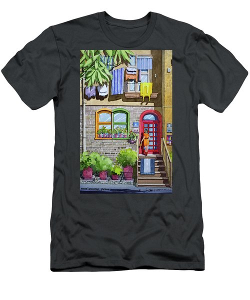 Apartment With Red Door Men's T-Shirt (Athletic Fit)