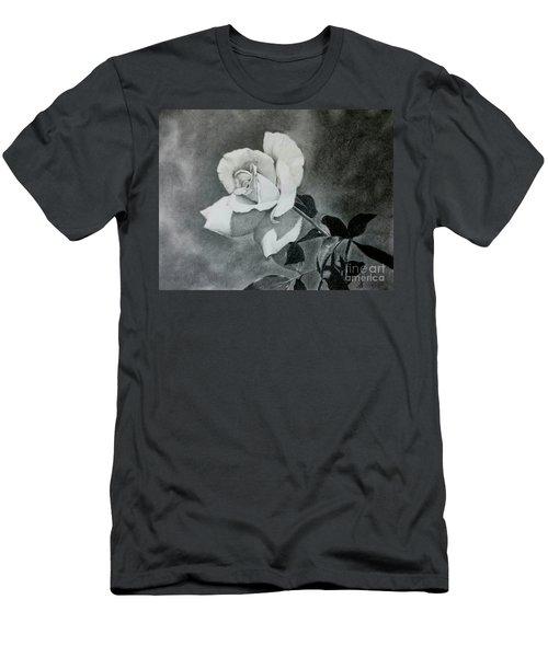 Men's T-Shirt (Slim Fit) featuring the drawing Aperitif Rose by Terri Mills
