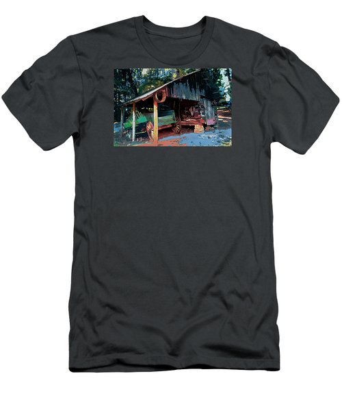Appalachia Wagon Waiting For Repair  Men's T-Shirt (Athletic Fit)
