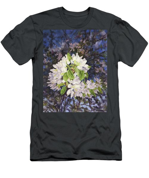 Apple Blossoms At Dusk Men's T-Shirt (Slim Fit) by Anne Gifford