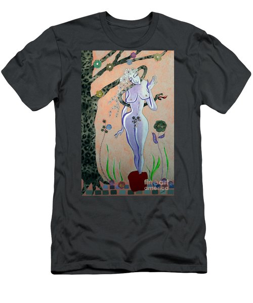 Apple, Snake, Woman -- Eve In Garden Of Eden, #4 In Famous Flirts Series Men's T-Shirt (Athletic Fit)