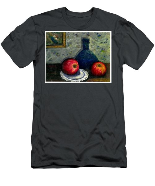 Apples And Bottles Men's T-Shirt (Slim Fit) by Gail Kirtz