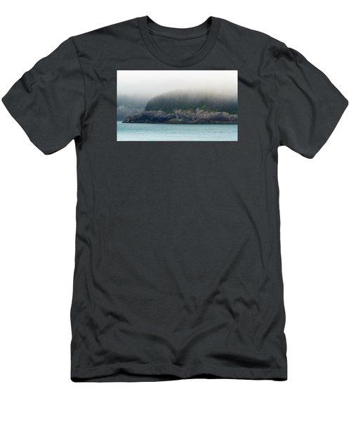 Approaching Glacier Bay Alaska Men's T-Shirt (Slim Fit) by Allan Levin