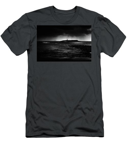 Approaching Storm, Ailsa Craig And Pladda Island Men's T-Shirt (Athletic Fit)