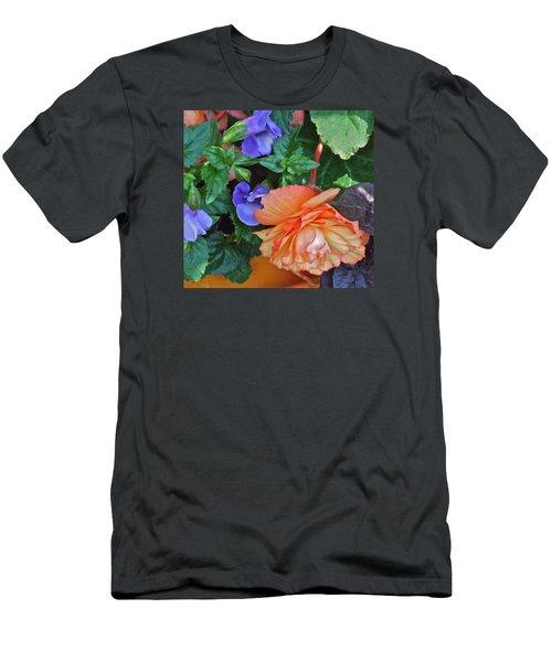 Apricot Begonia 1 Men's T-Shirt (Slim Fit) by Janis Nussbaum Senungetuk