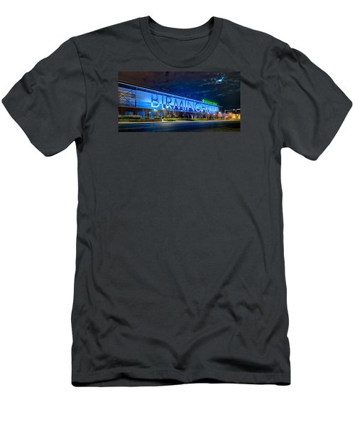 April 2015 -  Birmingham Alabama Baseball Regions Field At Night Men's T-Shirt (Athletic Fit)