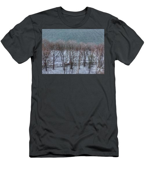 April Snow On Portland Trails Men's T-Shirt (Athletic Fit)