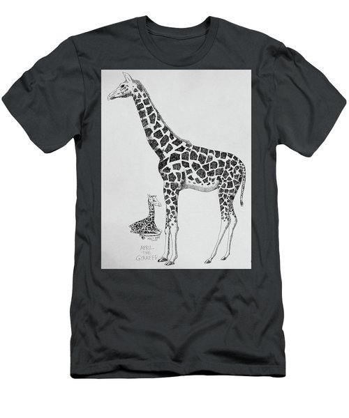 April The Giraffe Men's T-Shirt (Athletic Fit)