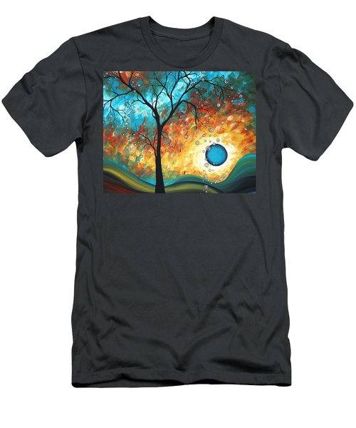 Aqua Burn By Madart Men's T-Shirt (Athletic Fit)