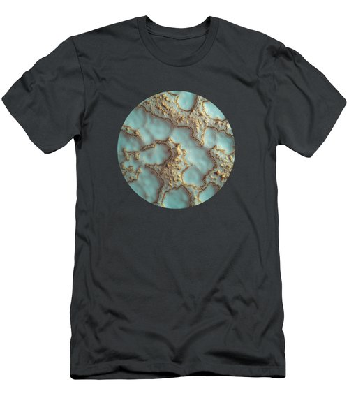 Aqua Coral Reef Abstract Men's T-Shirt (Athletic Fit)