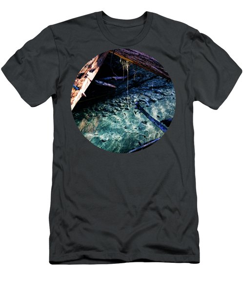 Aquamarine Men's T-Shirt (Slim Fit) by Adam Morsa