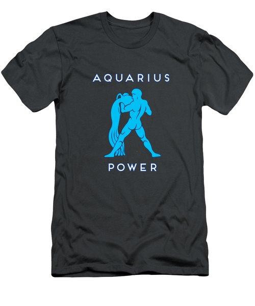 Men's T-Shirt (Athletic Fit) featuring the digital art Aquarius Power by Judy Hall-Folde