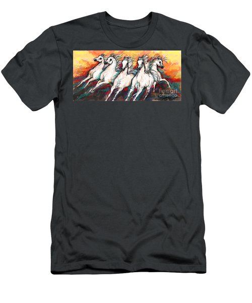 Arabian Sunset Horses Men's T-Shirt (Athletic Fit)