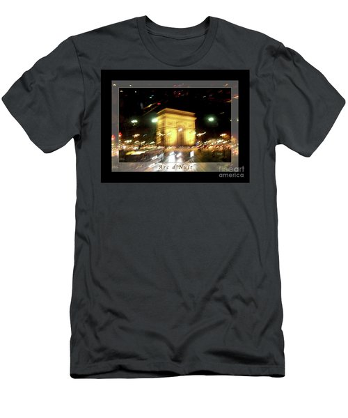 Arc De Triomphe By Bus Tour Greeting Card Poster V1 Men's T-Shirt (Athletic Fit)
