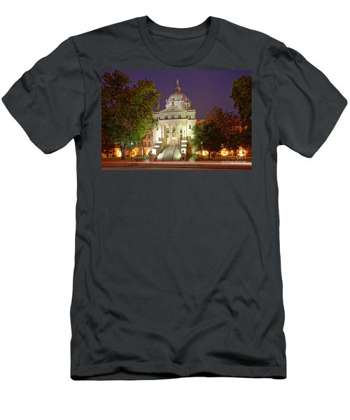 Architectural Photograph Of Mclennan County Courthouse At Dawn - Downtown Waco Central Texas Men's T-Shirt (Athletic Fit)