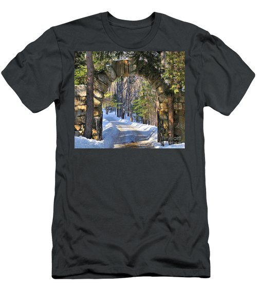 Men's T-Shirt (Slim Fit) featuring the photograph Archway To Winter by Debbie Stahre