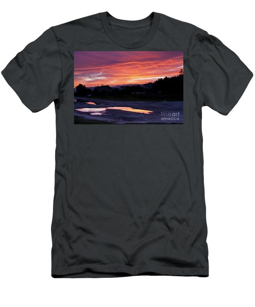 Men's T-Shirt (Slim Fit) featuring the photograph Ardore, Calabria Town by Bruno Spagnolo