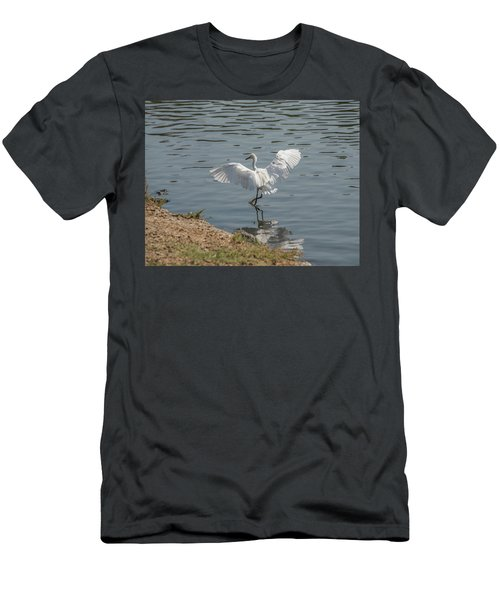 Are You Ready To Dance - Great Egret In Mtn View Ca Men's T-Shirt (Athletic Fit)