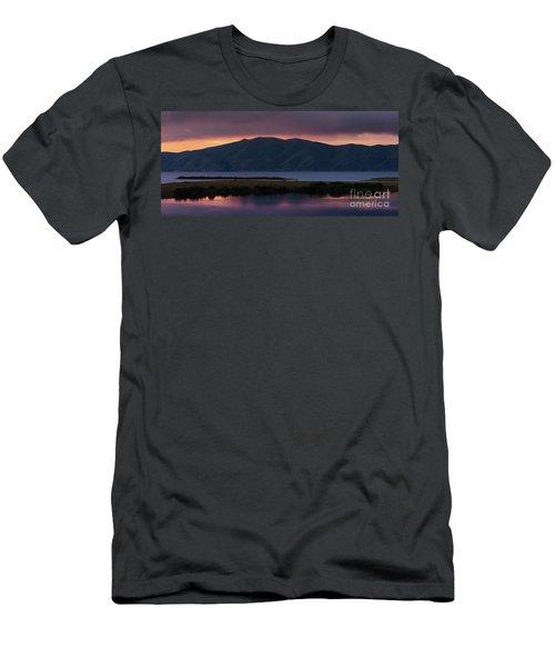 Aregunyats Range And Sevan Lake At Sunset, Armenia Men's T-Shirt (Athletic Fit)