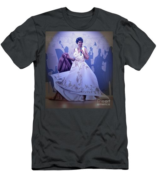 Aretha Franklin Rock Steady Men's T-Shirt (Athletic Fit)