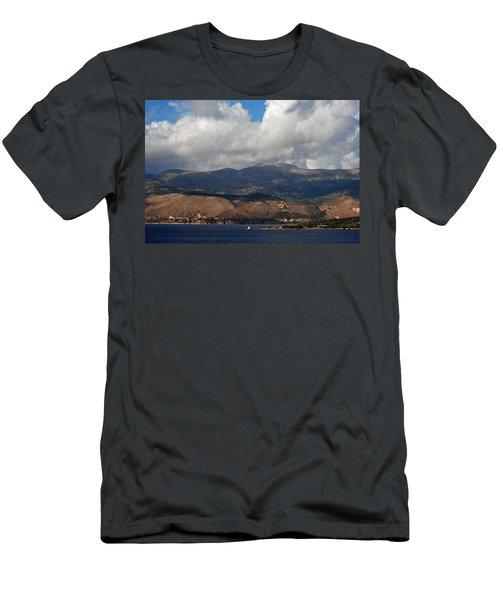 Argostoli Mountains Men's T-Shirt (Slim Fit) by Robert Moss