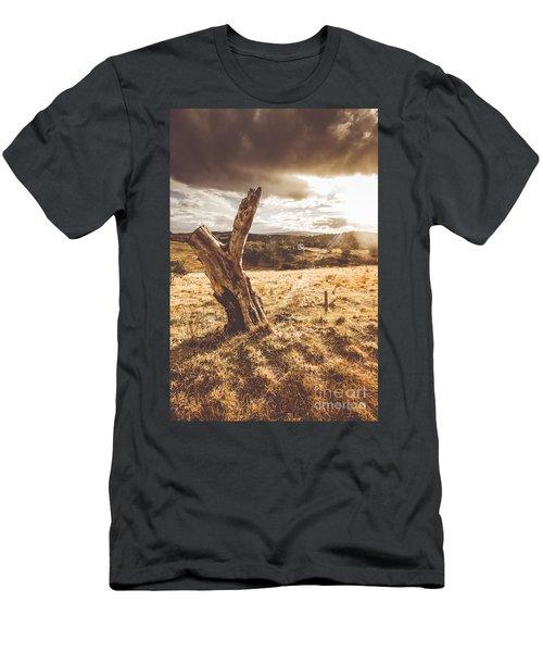 Arid Tasmania Bush Landscape Men's T-Shirt (Athletic Fit)