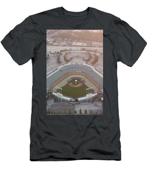Ariel Image Of Dodger Stadium Men's T-Shirt (Athletic Fit)
