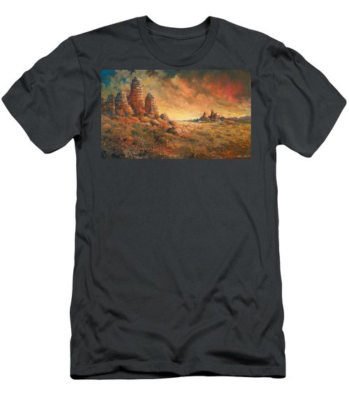 Men's T-Shirt (Athletic Fit) featuring the painting Arizona Sunset by Andrew King