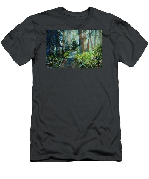 Around The Path Men's T-Shirt (Slim Fit) by Kerri Ligatich