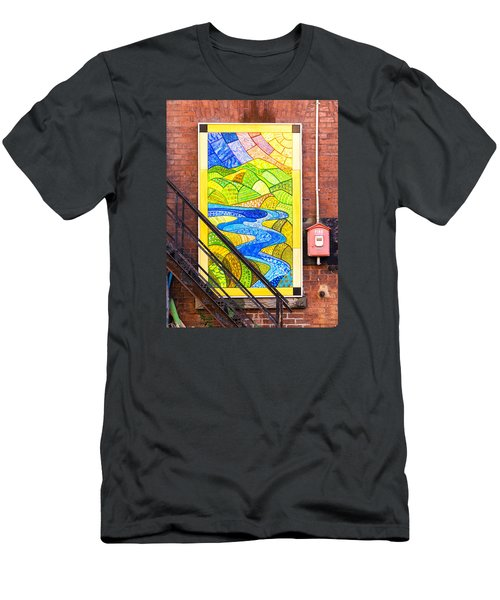 Art And The Fire Escape Men's T-Shirt (Athletic Fit)