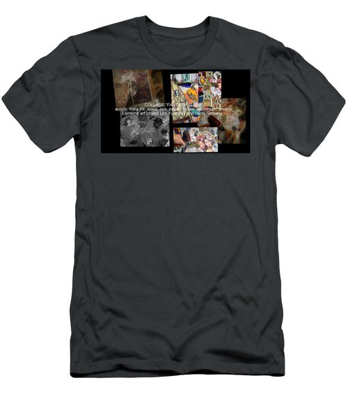 art collage Italy Men's T-Shirt (Athletic Fit)